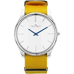 White/Yellow Kensington Watch by Kennett