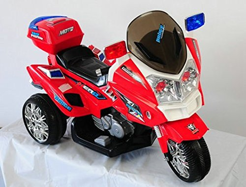 PEKECARS MOTO POLICÍA 12V (ROJO)