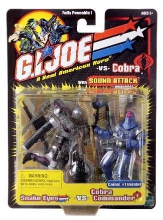 G.I. Joe Snake Eyes vs. Cobra Commander with Sound Attack