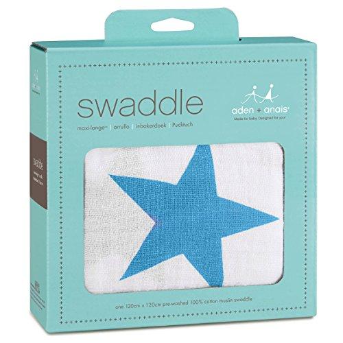 aden + anais 8902G Classic Single Swaddle, brilliant blau