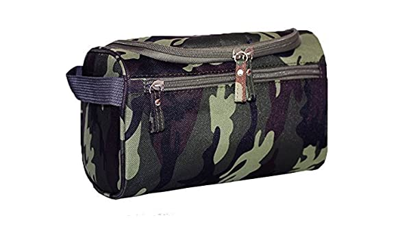 a227b73f3ad1 iSuperb Hanging Toiletry Bag Travel Bag Water Resistant Lightweight Wash  Gym Shaving Bag Organizer for Women Men (Camouflage Dark Green)  Amazon.in   Beauty