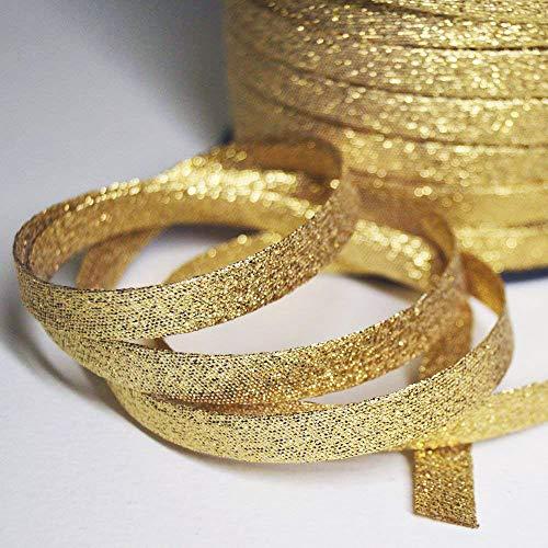 lurex schrägband, golden schrägband aus Gold Lurex, schrägband zum Nähen Um 20 meter