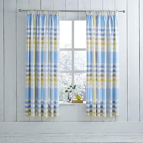 Modern Charlotte Thomas Camden Pencil Pleat Ready Made Curtains, Blue - 66