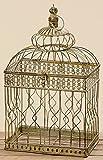 Deko Vogelkäfig 47cm Höhe Braun Eisen Dekoration Antik Käfig Kolonialstil