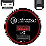 Schnellladegerät,BC Master KFZ Ladegerät 34.5W 2-Port Quick Charge QC 3.0 USB Auto Ladegerät Adapter für Samsung Galaxy S7/S6/Edge/Plus, Note 4/5, LG G4, HTC One A9/M9, Nexus 6, iPhone, iPad und Mehr