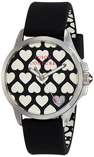 Juicy Couture Damen Analog Quarz Uhr mit Silikon Armband 1901220 (Juicy Couture Damen-uhren)