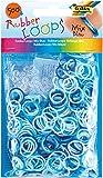 Folia Rubber Loops Gummibänder, 500 Stück, Farbe:Blau Mix