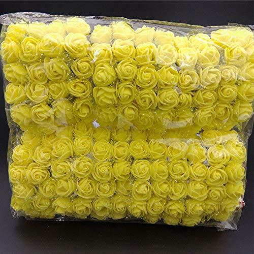 wlgreatsp Künstliche Blume Für Wohnkultur Mini Simulation Rosen Künstliche Blumen DIY Schmücken Einen Blumenstrauß Von Rosen Pe Emulation (Mittelstücke Weiß Und Gold Rot,)