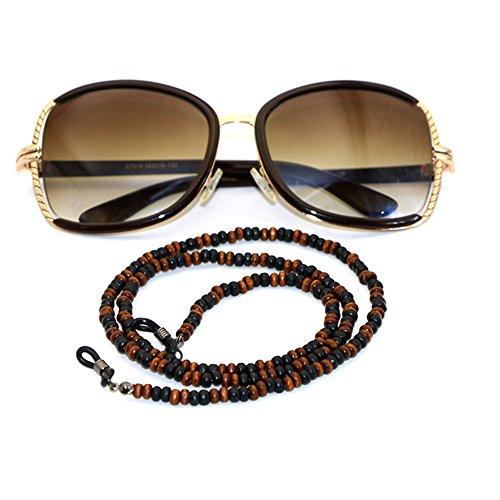 SwirlColor 65CM-böhmische Art-hölzerne wulstige Brillenhalter -Sonnenbrille / Brille wulstige Kettenhalskordel