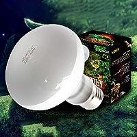 juxinuk 1pc Reptile lampe de chauffage Full Spectrum Uva Uvb Sunlamps pour reptiles animaux (40W)
