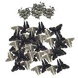 SM SunniMix 40 Piezas Esquina de Metal Tornillo Protector Aleación Caja de Regalo de Madera de Muebles Caja de Material de decoración