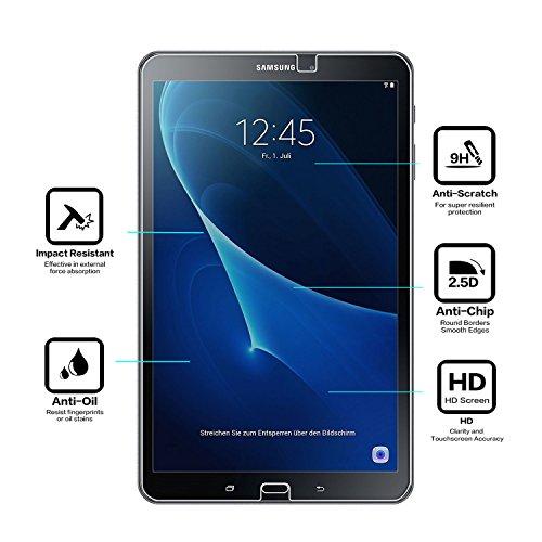Samsung Galaxy Tab A 10.1 Panzerglas Displayschutzfolie, Nearpow Schutzfolie 9H Härte, Anti-Kratzen, Anti-Öl, Anti-Bläschen, Anti-Fingerabdruck - 3
