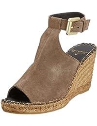 207f9c4b2c Royal RepubliQ Women's Wayfarer High Wedge Suede - Taupe Open Toe Sandals