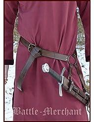 La edad media espada cinturón de cuero marrón - de la Edad Media espada con cinturón de Battle-Merchant