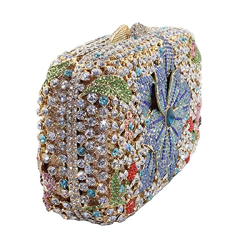 Sacchetto Di Sera Di Lusso Del Diamante Di Modo Delle Borse Delle Donne Blue