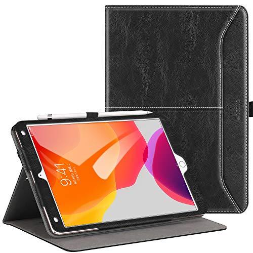 """Ztotops Hülle für Neu iPad 10.2 2019(iPad 7. Generation),Premium Leder Geschäftshülle mit Ständer,Kartensteckplatz,Auto Schlaf/Aufwach Funktion,Mehrfachwinkel,für iPad 10,2\"""" 2019, Schwarz"""