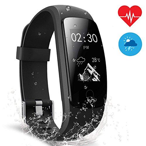 Pulsera Actividad Veimiues Pulsera Inteligente con GPS para Correr, Nivel de Salud Cardiorrespiratoria, Guía de Respiración, Monitor de Ritmo Cardíaco y Sueño, Impermeable 67 para iOS y Android