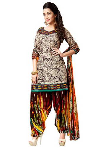 Applecreation Women's Crepe Suit Piece Salwar Suit Set (Salwar Suit Dress Material...