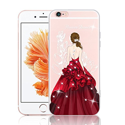 Étui pour iPhone 5 5S, Vandot Cristal Bling Bling Sparkle Diamant Housse Souple Transparent TPU Silicone Coque de Protection pour iPhone SE Beau Motif...