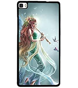 ColourCraft Gracious Angel Design Back Case Cover for HUAWEI P8