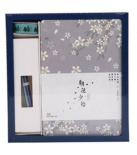 (Sun Glower Büro Schulbedarf Creative Hand Konto Buch Set Geschenk Box Notebook (grün) Briefpapier Geschenkset)