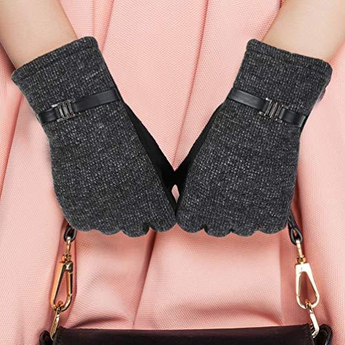 Vbiger Warm Winter Handschuhe Touchscreen Handschuhe Kalt Wetter Handschuhe Casual Outdoor Sports Handschuhe SMS Handschuhe für Damen