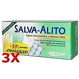 3X SALVA ALITO GIULIANI DA 40 CPR - 120 Compresse Masticabili Gusto Menta Forte - ALITO FRESCO