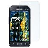 atFolix Panzerfolie für Samsung Galaxy J1 Mini (2016) / Galaxy J1 NXT Folie - 3 x FX-Shock-Clear stoßabsorbierende ultraklare Displayschutzfolie