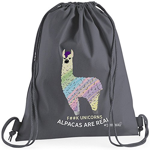 babe39e8b9 Sunnywall Auswahl Turnbeutel Rucksack Sport Beutel Gymsack Alpaka Spruch  Alpaca Fun Premium Geschenkidee (200g