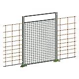 Voss.farming Porta per reti e recinzioni elettriche alte fino a 125 cm, collegabile/elettrificabile, set completo