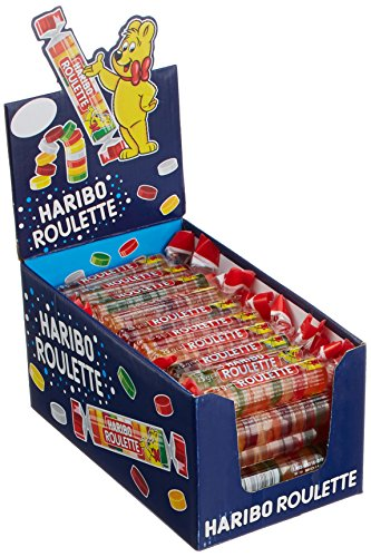 Haribo Roulette Rollen - Weingummi - Fruchtgummi - Box mit 50 Rollen