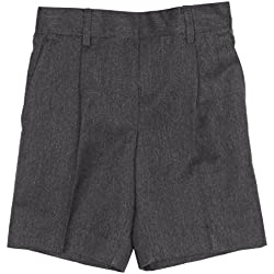 Blue Max Banner Boy's Essex School Shorts, Grey, W22 Regular (Manufacturer Size: 5-6 Years)