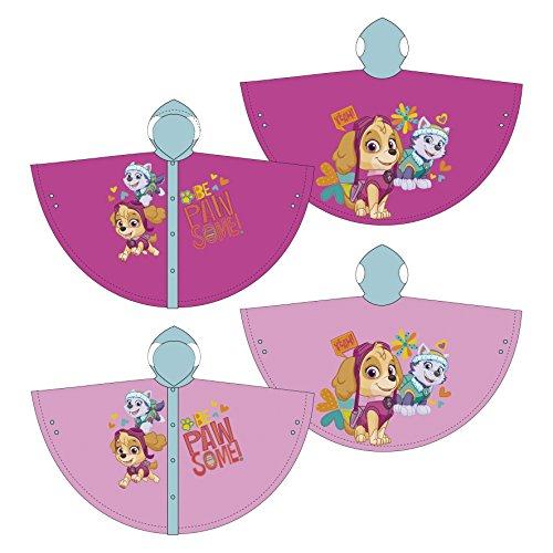 Familie24 Paw Patrol Girl Regenponcho AUSWAHL Poncho Kinderponcho Regenjacke Regenmantel Kinderregenjacke (2 Jahre, Pink)