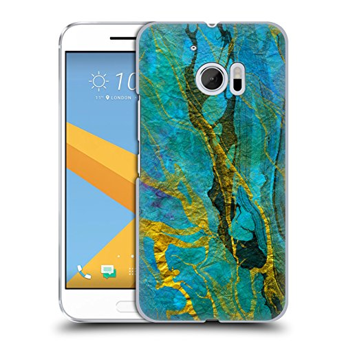 official-haroulita-yellow-teal-marble-hard-back-case-for-htc-10