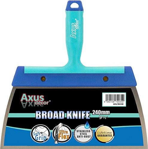 Axus Décor Couteau à grosse lame Acier inox 240 mm