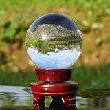 Auntwhale Crystal Ball Glas Kugel Display Fotografie Decor Ball mit Holzständer für Home Hochzeit Büro Dekoration