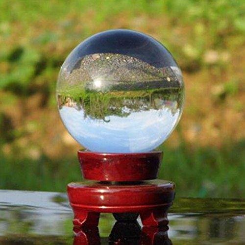 Kicode 40mm Bola de cristal Incluyendo soporte de madera
