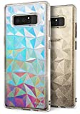 Cover Galaxy Note 8, Ringke [AIR PRISM Glitter Combo Pack][LIBERO film da deco olografico limitato] Piramide Bella Elegante Fantasia a Diamante Flessibile Trama Protettiva Custodia Samsung Galaxy Note8 - Luccichio Chiaro