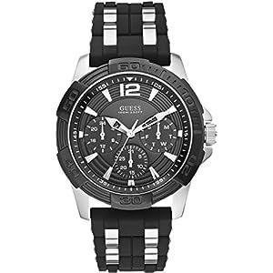 Guess Reloj Análogo clásico para Hombre de Cuarzo con Correa en Acero Inoxidable W0366G1