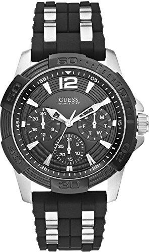 Guess Herren-Armbanduhr XL Analog Quarz Kautschuk W0366G1