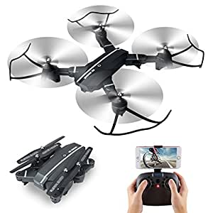XS809W Folding RC Quadcopter with Height of VR WiFi 720P Wide Angle 2MP HD FPV Camera 2.4GHz 6Axis Gyro Remote Control XS809HW Drone