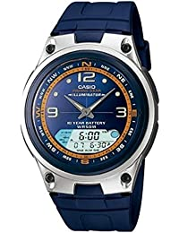 Casio Men's AW82-2AV Blue Resin Quartz Watch with Blue Dial