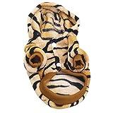 Hanyia Petit Chien Chat Vetement d'Hiver Chaud Flanelle Costume Animal Domestique 6 Tailles au Choix