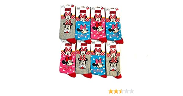 Lot de 6 Chaussettes Disney MINNIE MOUSE Adorable et Confortable pour Filles