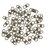 MagiDeal 50 Pezzi Girevoli Connettori Assortimento articoli di Gioielleria Monili Fabbricazione Strumenti - Bronzo, 15 mm