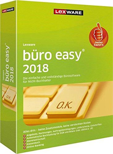 Lexware büro easy 2018 Minibox (Jahreslizenz)|für Kleinunternehmer und Existenzgründer|Bürosoftware mit Basisfunktionen, Kassenbuch, Warenwirtschaft u.w.|Kompatibel mit Windows 7 oder aktueller
