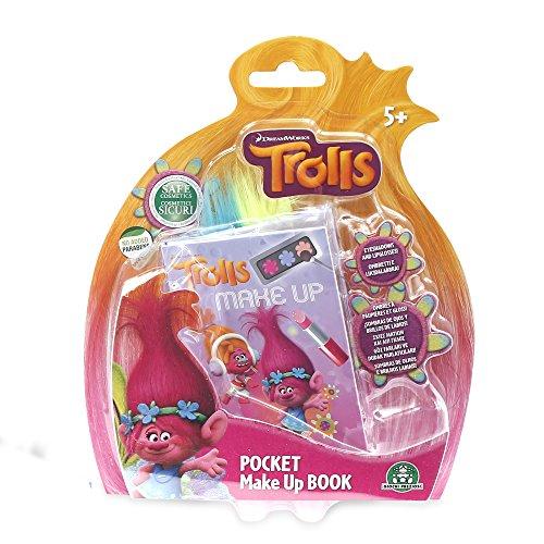 Giochi Preziosi- Trolls Make-up Book Pocket Set Trucchi per Bambini, Multicolore, TRL04000