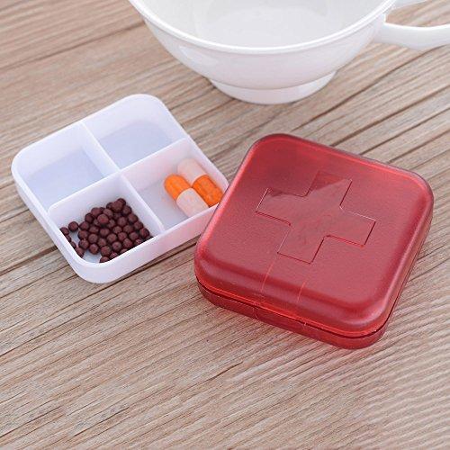 dodorm-TM-Multifunktions-four-compartment-Pille-Organizer-Medizin-Storage-Tablet-Holder-Jewelry-Box-Kleine-Objekte-Container