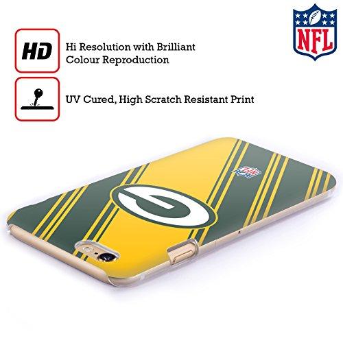 Offizielle NFL Marmor 2017/18 Green Bay Packers Ruckseite Hülle für Apple iPhone 6 Plus / 6s Plus Streifen