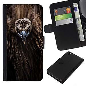A-type (Bird Beak Feathers Nature Animal Condor) Colorful Impression Holster Cuir Wallet Cover Housse Peau Cas Case Coque Pour HTC DESIRE 816